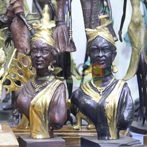 statue bronze signares